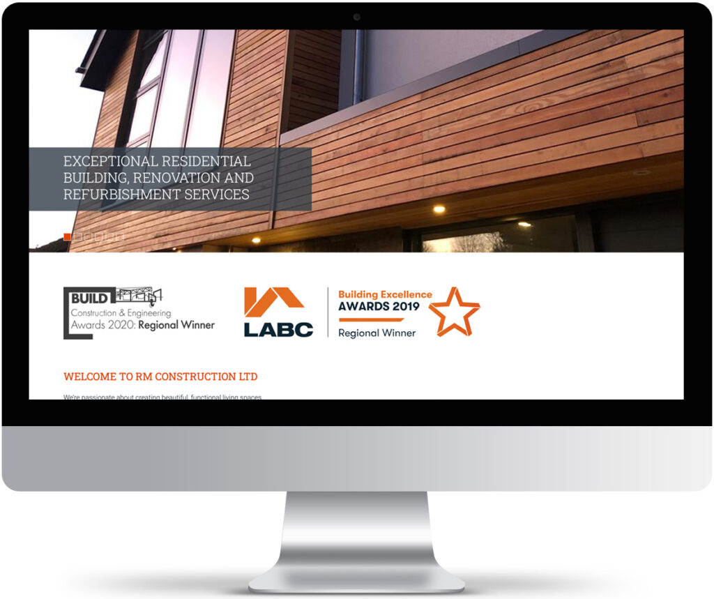 Award win graphics for website for RM Construction
